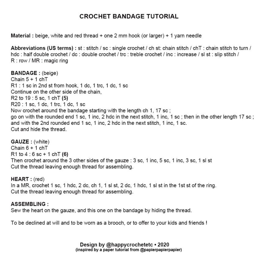 Crochet Bandage tutorial
