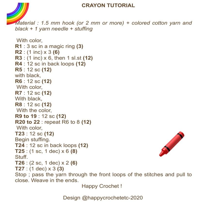 Crochet Crayola Crayon Tutorial