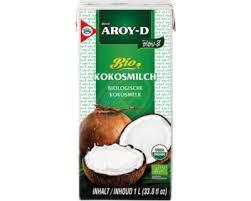 Lait de coco bio 1L Aroy D, lait de coco bio