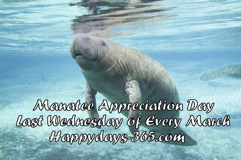Manatee Appreciation Day – March 28, 2018