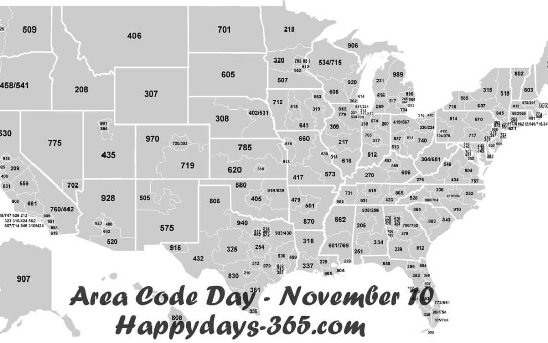National Area Code Day – November 10, 2019