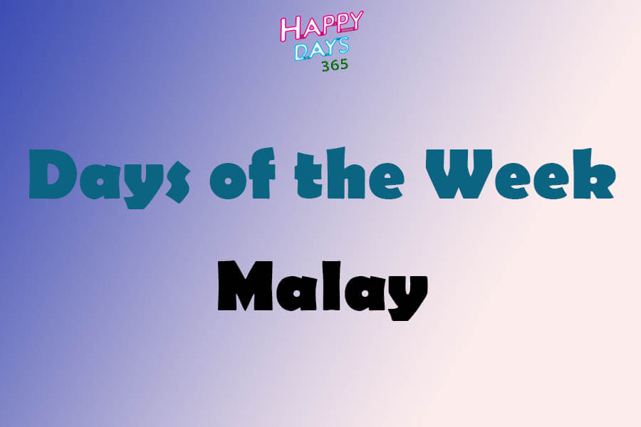 Days of the Week in Malay Language