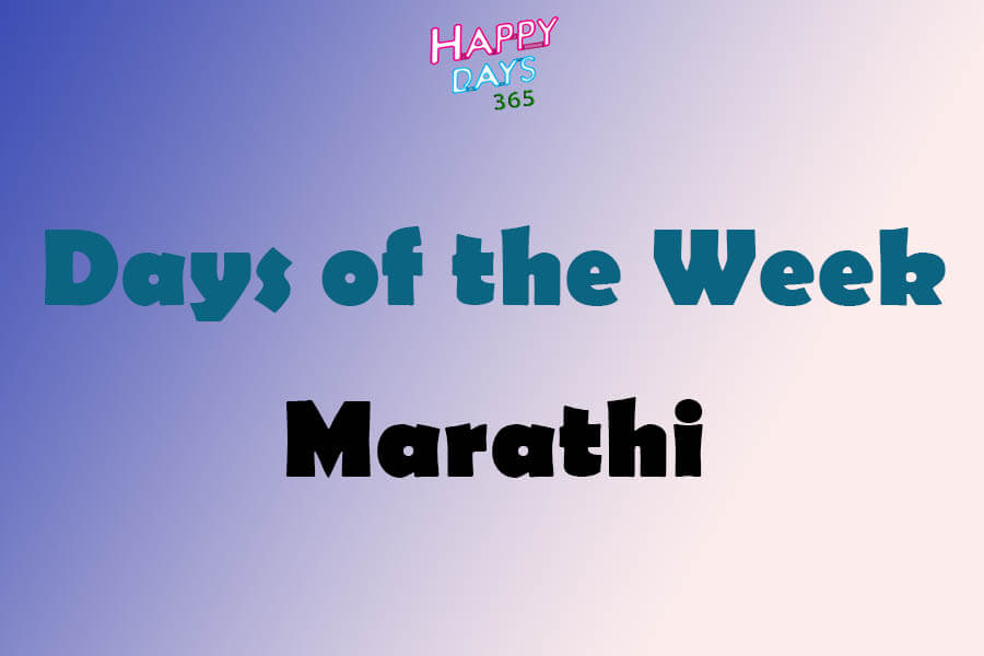 Days of the Week in Marathi