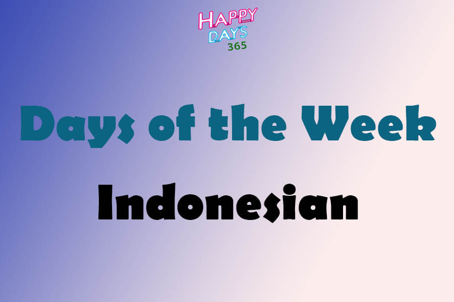 Days of the Week in Indonesian Language