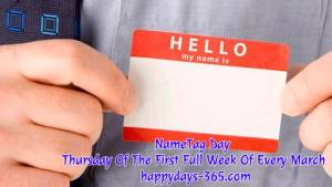 NameTag Day