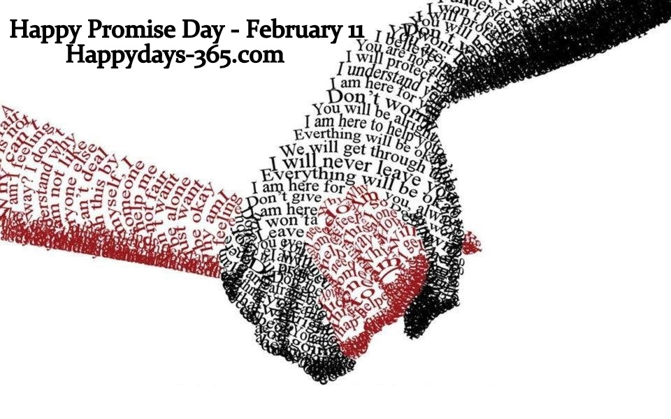 Happy Promise Day – February 11, 2020