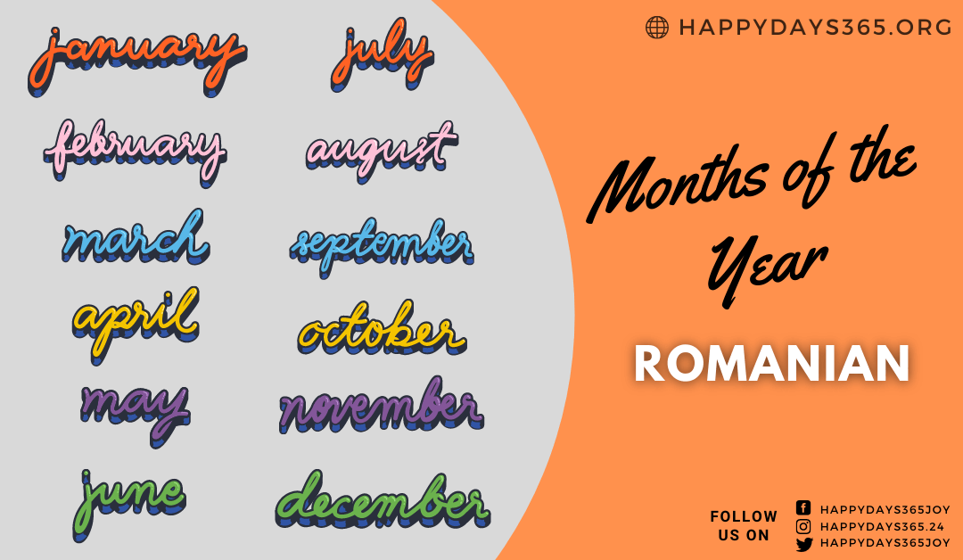 Months of the Year in Romanian