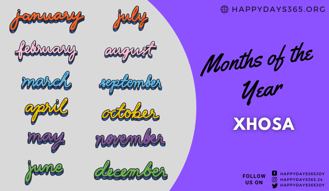 Months of the Year in Xhosa