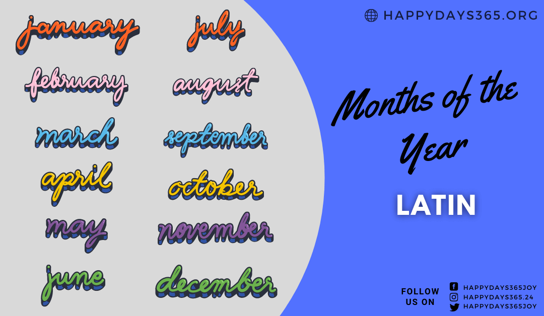 Months of the Year in Latin