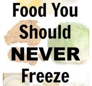 Surprising Foods You Should Never Freeze (& Foods You Can)!