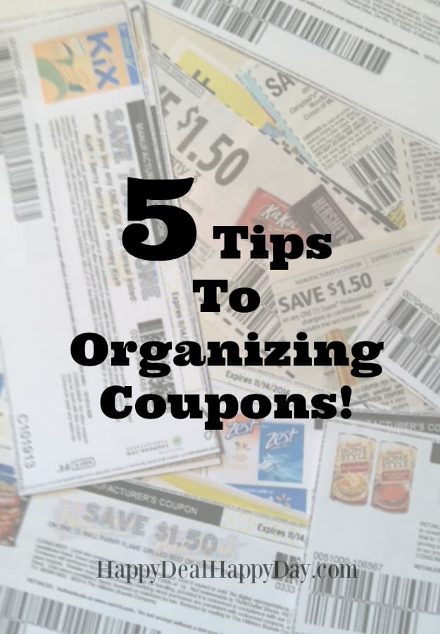 30 Day Budget Bootcamp:  5 Tips To Organizing Coupons!