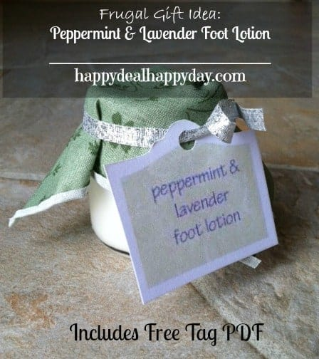 DIY Peppermint & Lavender Foot Lotion – Free Tag Printable PDF!