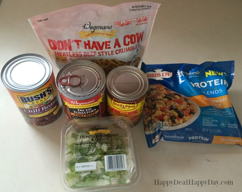 The EASIEST Slow Cooker Vegetarian Chili Recipe on the Planet! 6 ingredients - dump inot the slow cooker and done! :)
