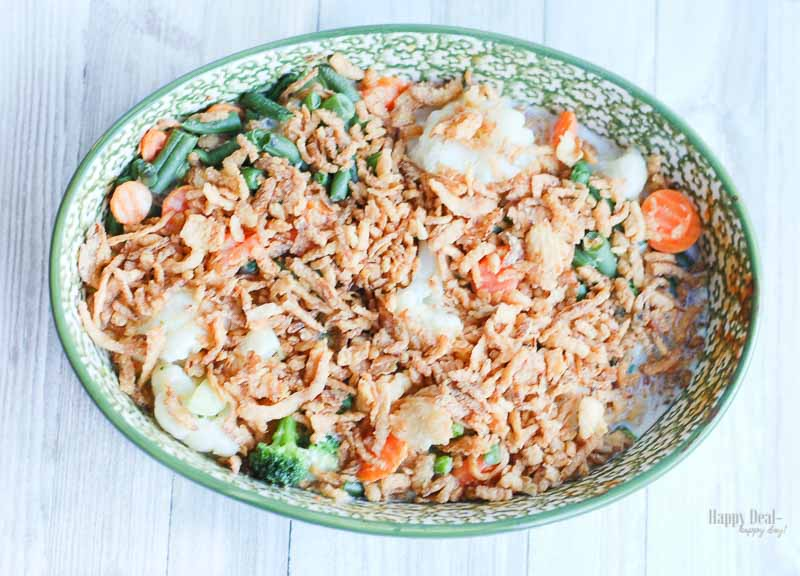 modified easy green bean casserole thanksgiving side dish