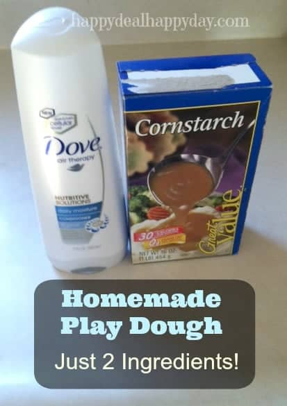 Home Made Play Dough | Cornstarch & Conditioner Play Dough – Super Easy!