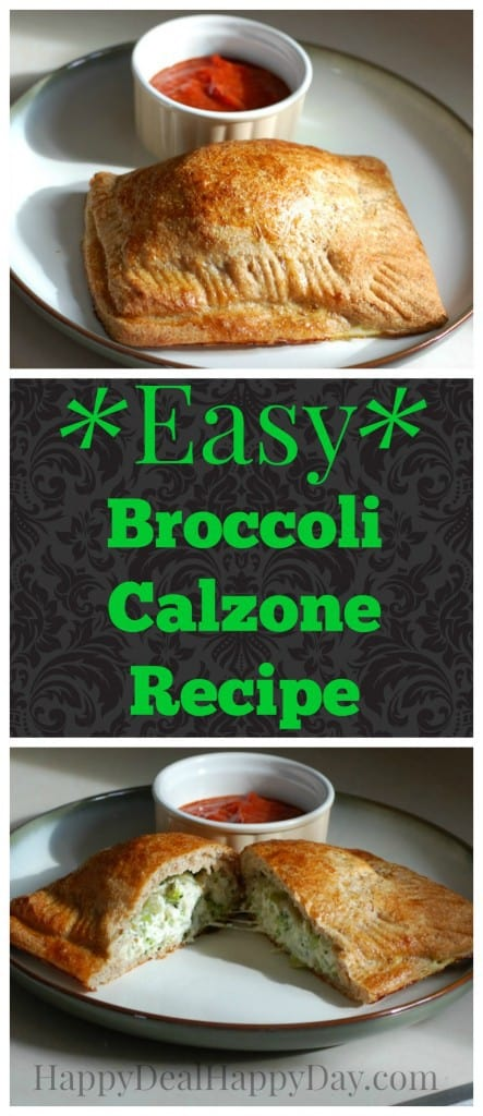 Easy Frugal Recipes | Broccoli Calzone Recipe happydealhappyday.com