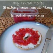 Easy Frugal Recipe | Strawberry Freezer Jam Recipe with Honey