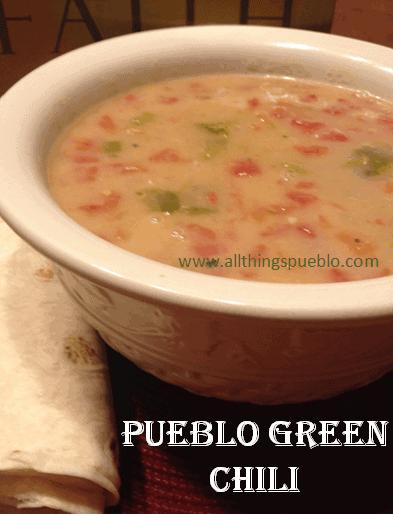 Recipes for the Garden Veggies:  Pueblo Green Chili