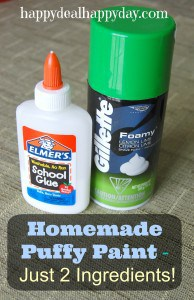 Kids Crafts:  Homemade Puffy Paint with Shaving Cream – Just 2 Ingredients – Super Easy!!