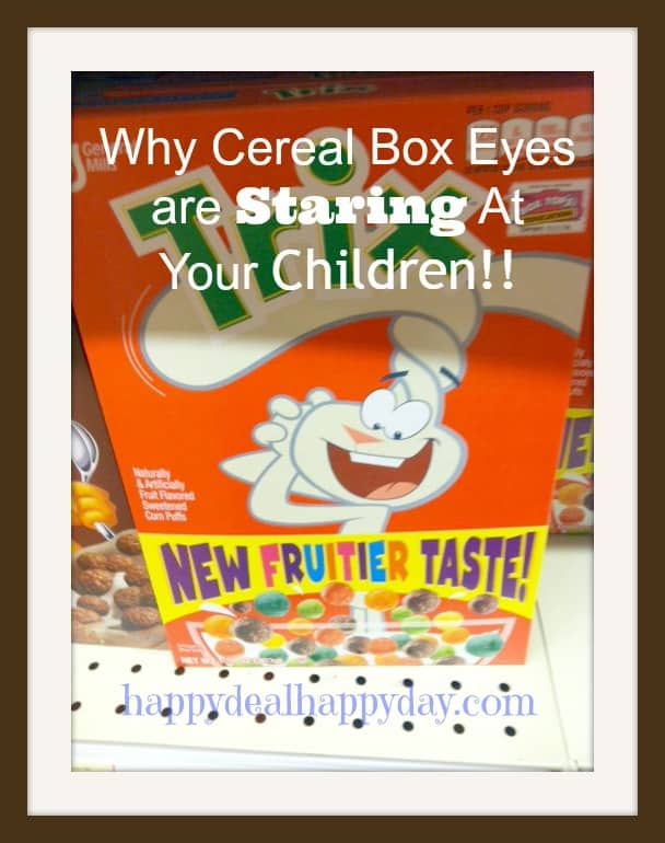 Cereal Box Cover: Why The Cartoons Are Staring At Your Children!!!!