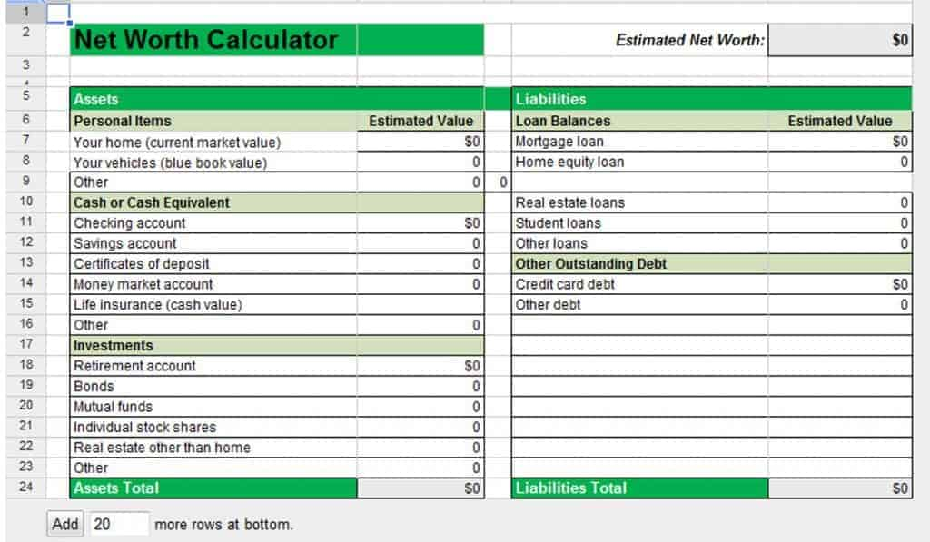 30 Day Budget Bootcamp:  Calculate Your Household Net Worth