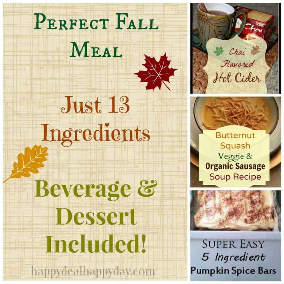Fall meal collage