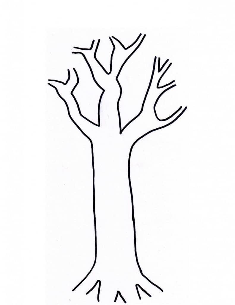 autumn tree stencil