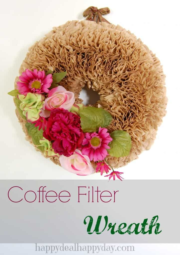 Coffee Filter Crafts | Coffee Filter Wreath tutorial and coffee filter wreath how to. This is the prettiest one I've seen! happydealhappyday.com