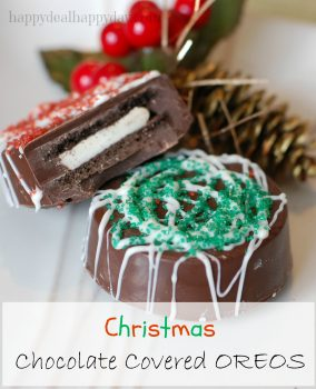 Chocolate Covered Oreos – Christmas Version!