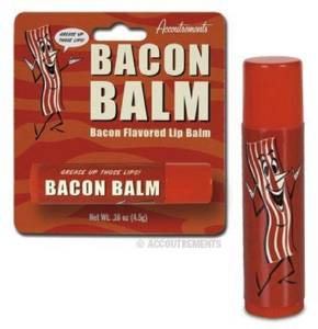 white elephant gift bacon lip balm
