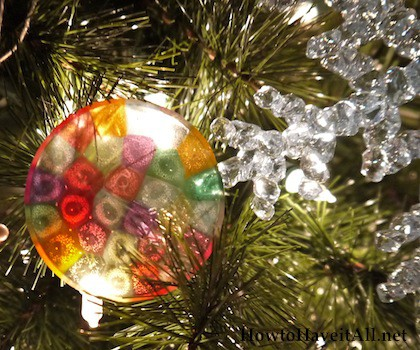 melted bead ornament