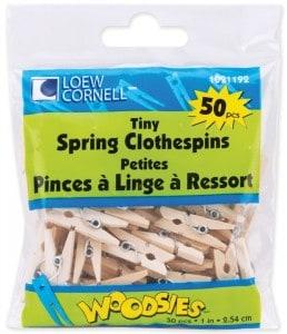 mini clothespins