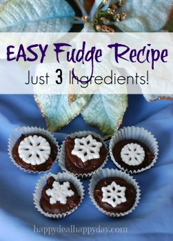 Fudge Recipe – Easy 3 Ingredients!