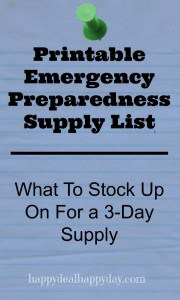 Free Printable Emergency Preparedness Supply List – What To Stock Up On For a 3-Day Supply