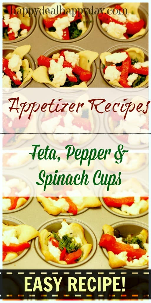 feta pepper appetizer collage