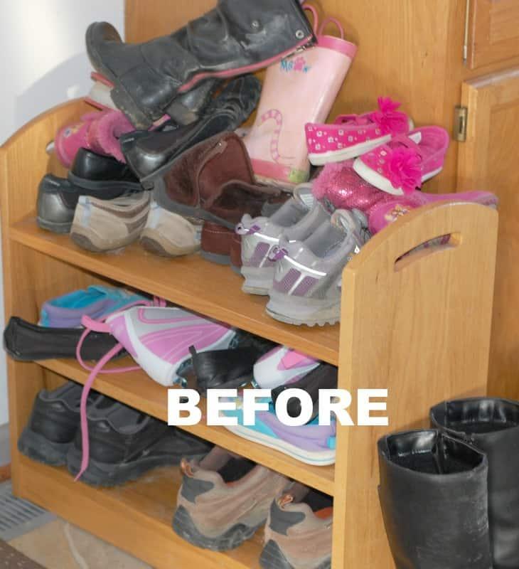 shoe slots before