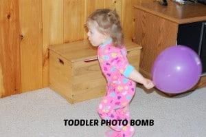 toddler photo bomb