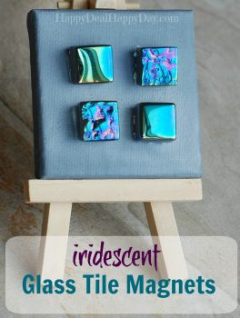 How to Make Iridescent Glass Tile Magnets