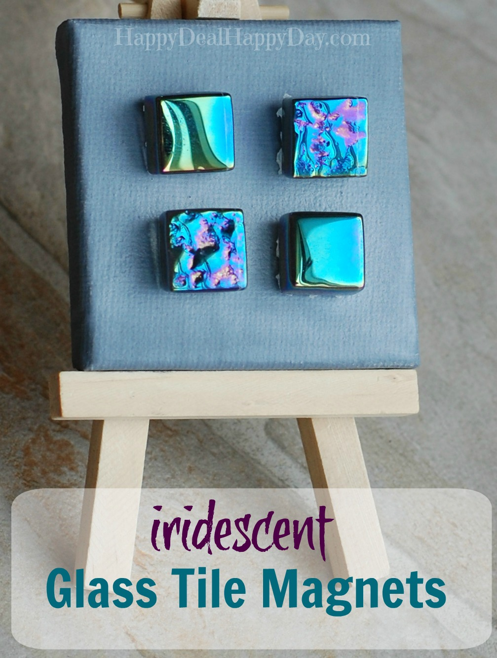 iridescent glass tile Magnets For Sale