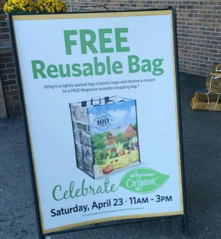 Wegmans Organic Event 4/23/16!  Organic Item Coupons + Recycle Plastic Bags for Reusable Bag!