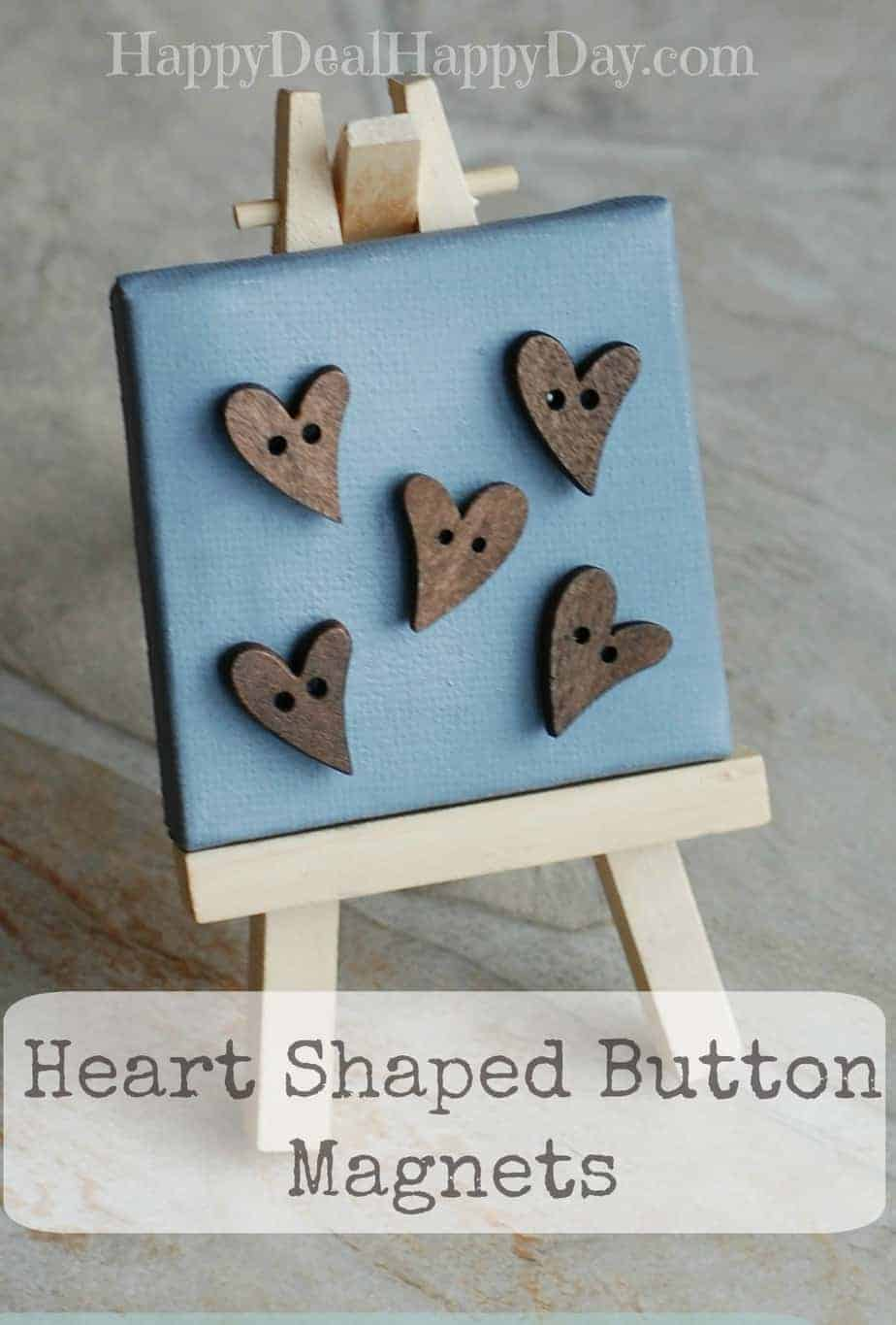 Cute Heart Shaped Button Magnets – Made With Rare Earth Magnets for Extra Strength!