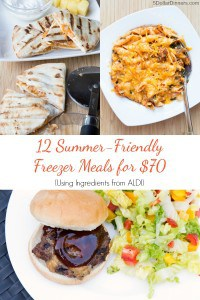 Meal Plan for Aldi (Or ANY Grocery Store) – 12 Summer Meals for $70!