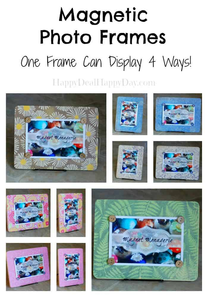 DIY Photo Frame:  Magnetic Photo Frames in New Styles!