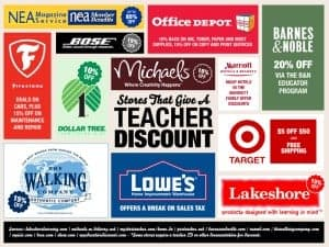 Teacher Discounts:  100+ Stores That Will Give Teachers a Discount!