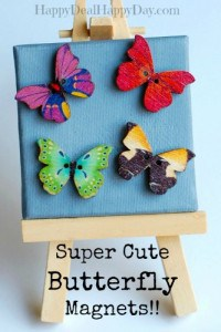 Cute and Colorful Butterfly Magnets!