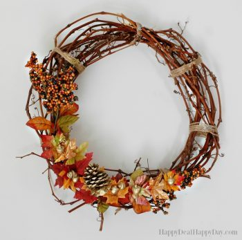 How To Make an Autumn Grapevine Wreath