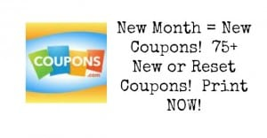 new month new coupons