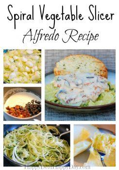 Spiral Vegetable Slicer Alfredo Recipe