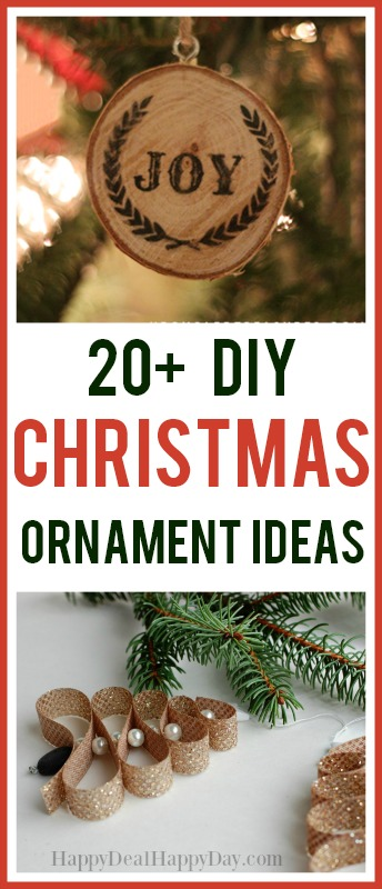 20+ DIY Christmas Ornament Ideas! #diyornaments #christmasdecor #christmascrafts #christmasornaments #easyornaments