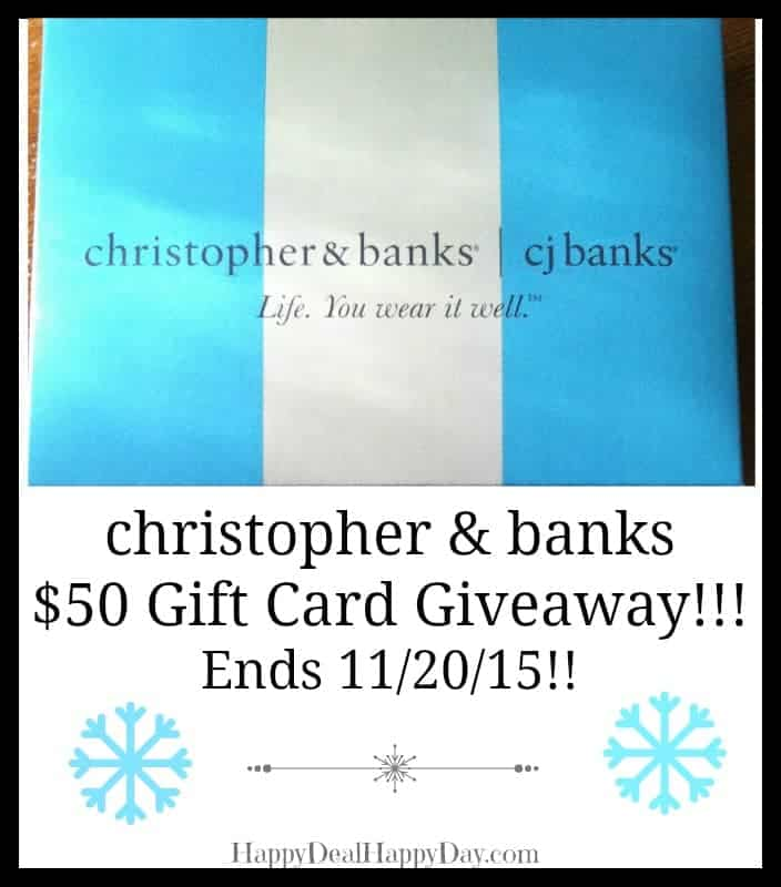 Christopher & Banks $50 Gift Card Giveaway – Ends 11/20 #CBStyle #AmazingWomen